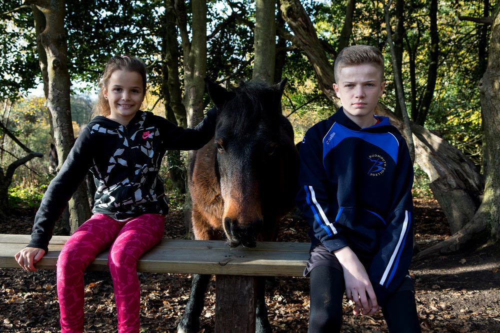 Hardys Woods Dorchester Kids with Horse