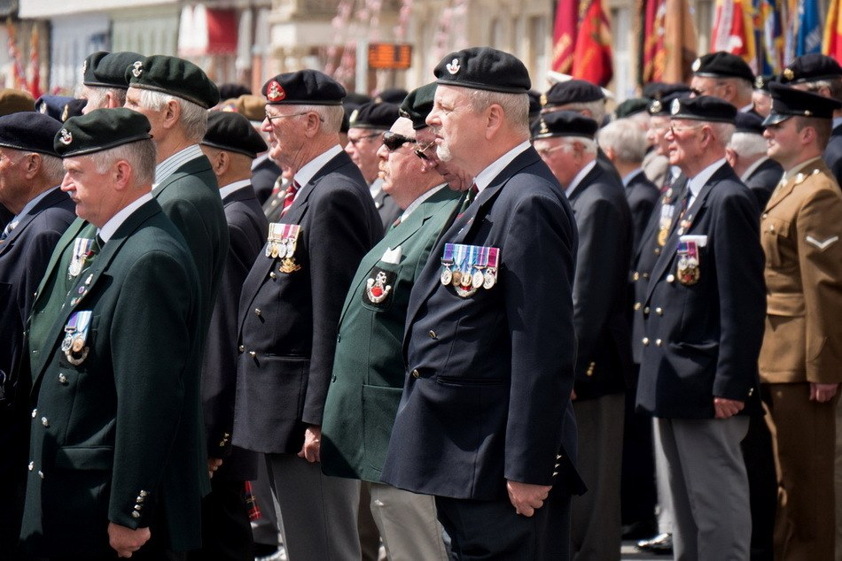 Service of Remembrance and Parade in Weymouth